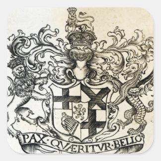 オリバー・クロムウェルの紋章付き外衣 スクエアシール