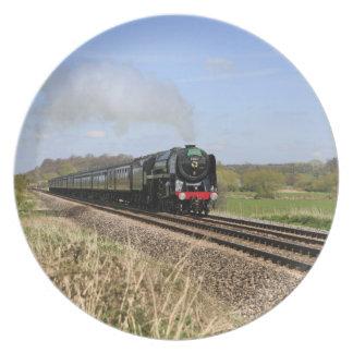 オリバー・クロムウェルの蒸気の列車のプレート プレート