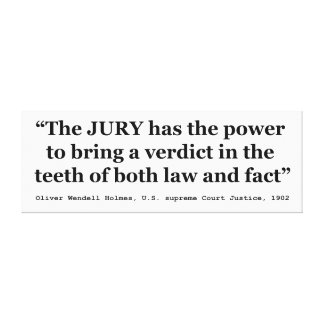 オリバーWendell Holmes著陪審員の取り消しの引用文 キャンバスプリント