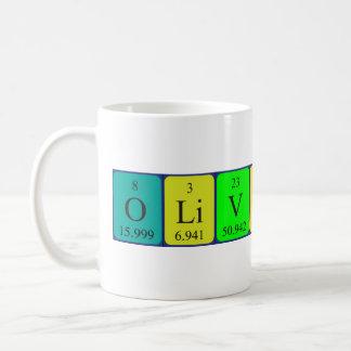 オリビアバラの周期表の名前のマグ コーヒーマグカップ