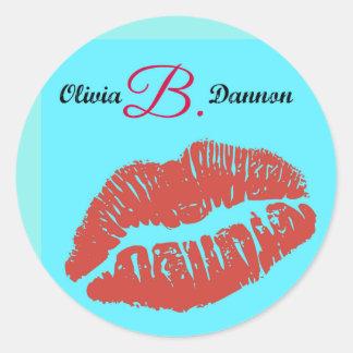 オリビアB. Dannon Kissのステッカー ラウンドシール