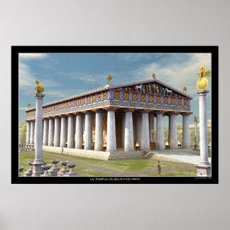 オリンピアのゼウスの寺院 ポスター