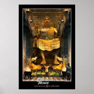 オリンピアのゼウスの彫像 ポスター