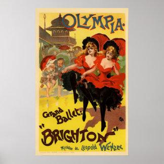 オリンピアの壮大なバレエブライトン ポスター