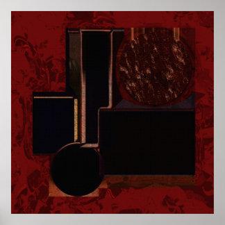 オリンピア紀の抽象美術ポスター ポスター
