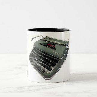 オリンピアSM3のタイプライター ツートーンマグカップ