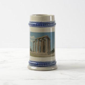 オリンピックのゼウス(アテネ)の寺院 ビールジョッキ