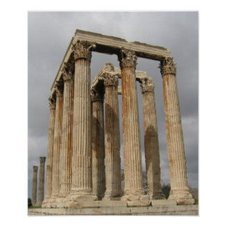 オリンピックのゼウス(アテネ)の寺院_01 ポスター