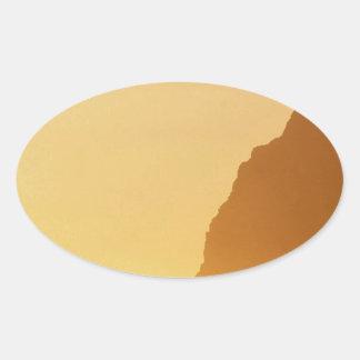 オリンピックアーチの日没ポイント 楕円形シール