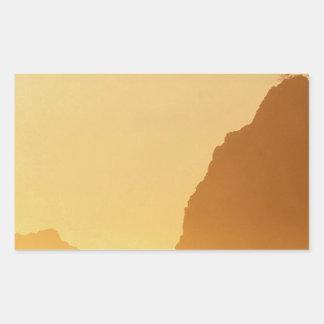 オリンピックアーチの日没ポイント 長方形シール