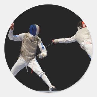 オリンピックフェンシングの突進および回避 ラウンドシール