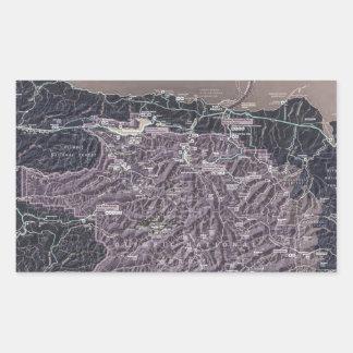 オリンピック半島 長方形シール
