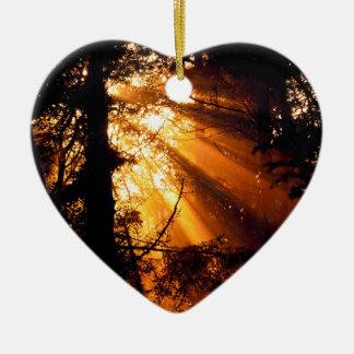オリンピック木の神秘的な太陽光線 セラミックオーナメント