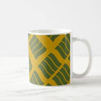 オリーブおよびマスタードの波のマグ コーヒーマグカップ