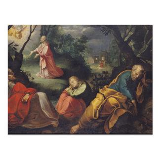 オリーブの庭、1625年のキリスト ポストカード