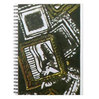 オリーブの抽象的なフレーム ノートブック