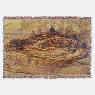 オリーブの木製の質パターン自然の植物の肋骨 スローブランケット