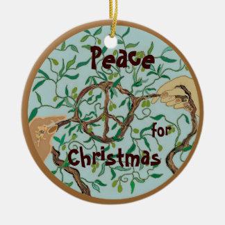 オリーブの枝のクリスマスの装飾 セラミックオーナメント