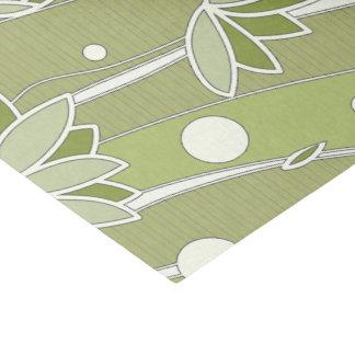 オリーブの緑のはすの花は縞で飾ります 薄葉紙