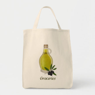 オリーブ油のボトル トートバッグ