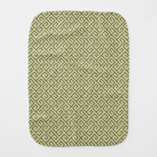 オリーブ色のケルト族の螺線形の直角ライン バープクロス