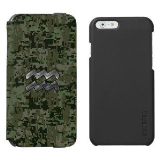 オリーブ色のデジタル迷彩柄のアクエリアスの印 INCIPIO WATSON™ iPhone 6 財布ケース