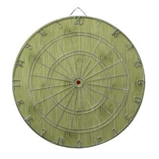オリーブ色のモスグリーン木穀物のタケの一見 ダーツボード