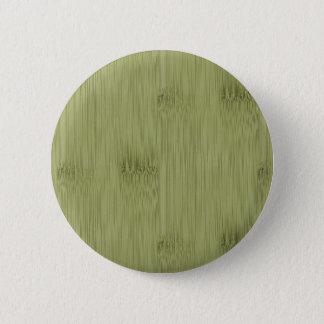 オリーブ色のモスグリーン木穀物のタケの一見 5.7CM 丸型バッジ