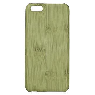 オリーブ色のモスグリーン木穀物のタケの一見 iPhone5Cカバー