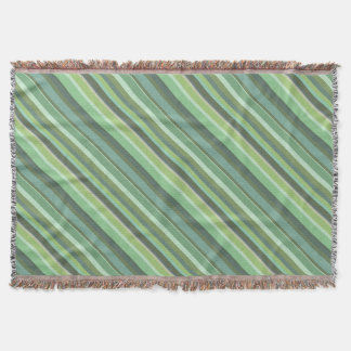 オリーブ色の対角線は縞で飾ります スローブランケット