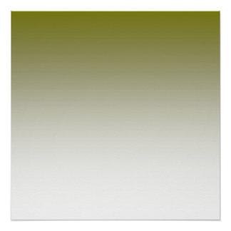 オリーブ色の白いグラデーション ポスター