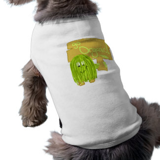 オリーブ色はオーガニックに行きます ペット服