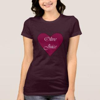 オリーブ色ジュースはI愛を意味します Tシャツ