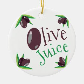 オリーブ色ジュース セラミックオーナメント
