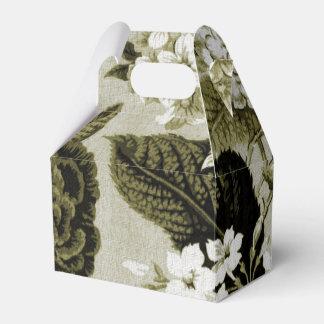 オリーブ色花のToile No.1 フェイバーボックス