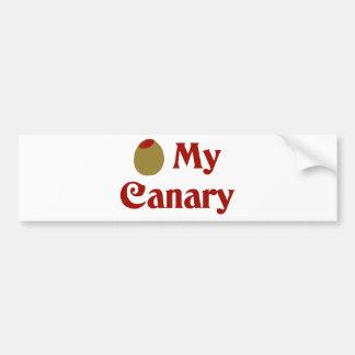 オリーブ(I愛)私のカナリア バンパーステッカー