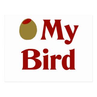 オリーブ(I愛)私の鳥 ポストカード