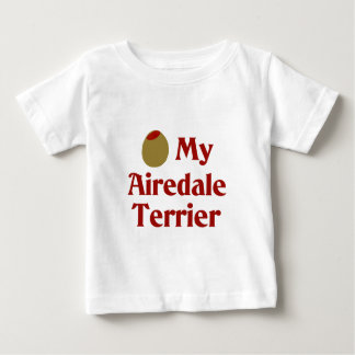 オリーブ(I愛)私のAiredaleテリア ベビーTシャツ