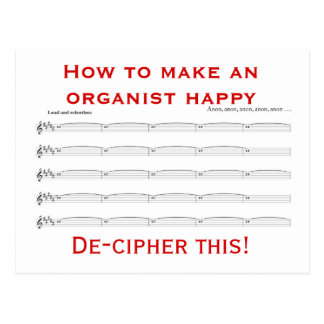 オルガン奏者に幸せな郵便はがきをする方法 ポストカード