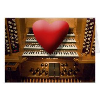 オルガン奏者のためのバレンタインデーカード カード