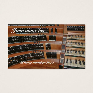 オルガン奏者の名刺およびカレンダー-タブ停止#2 名刺