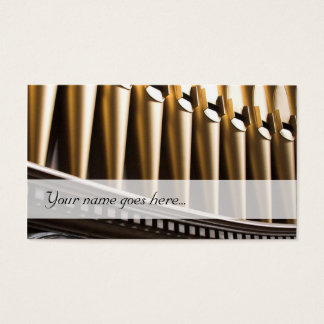 オルガン奏者の名刺-金管 名刺