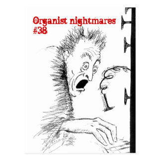 オルガン奏者の悪夢no.38の郵便はがき ポストカード