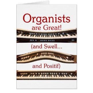 オルガン奏者は素晴らしいサンキューカードです カード