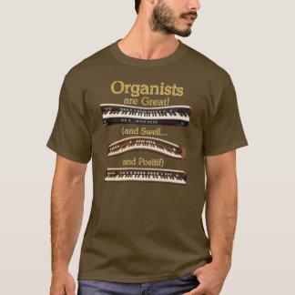 オルガン奏者は素晴らしいTシャツです Tシャツ