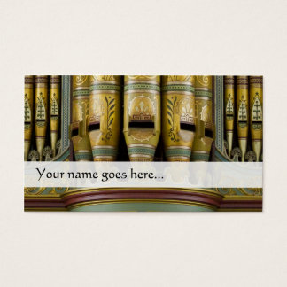 オルガン管の名刺-飾られた管 名刺