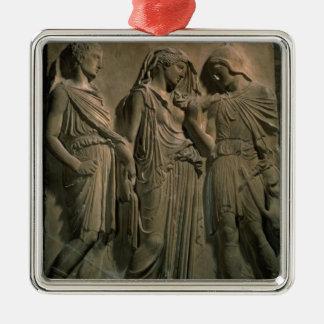 オルペウス、エウリュディケーおよびHermes (大理石) メタルオーナメント