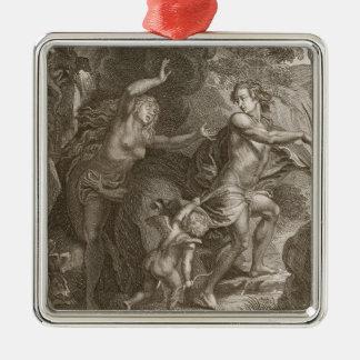 オルペウス、地獄からの導くエウリュディケーは、見ます メタルオーナメント