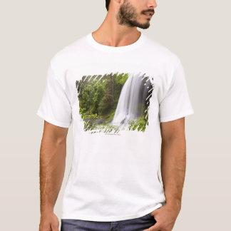 オレゴンのぼやけられた滝および森林眺め Tシャツ