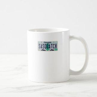 オレゴンのサスカッチのナンバープレート コーヒーマグカップ